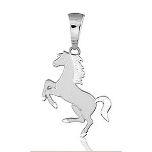 Sans - Pendentif cheval cabré en argent pas cher