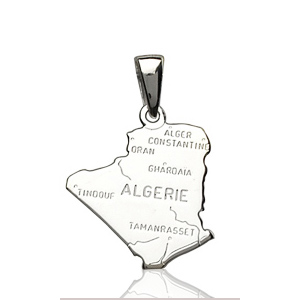 Sans - Pendentif algérie en argent pas cher