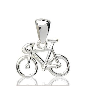Image of Pendentif vélo de course en argent