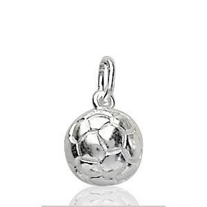 Sans - Pendentif ballon de foot en argent rhodié - petit modèle pas cher