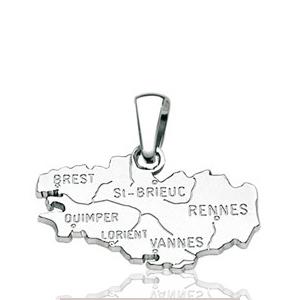 Image of Pendentif bretagne en argent rhodié