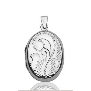 Sans - Pendentif cassolette ovale en argent pas cher