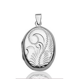 Image of Pendentif cassolette ovale en argent