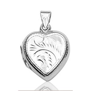 Sans - Pendentif cassolette coeur en argent pas cher