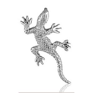 Image of Pendentif salamandre en argent rhodié