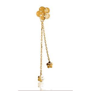 Pendentif Fleur stylisée pour lingerie plaqué or