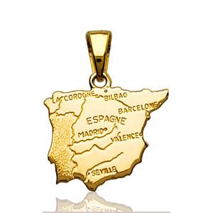Pendentif Espagne plaqué or