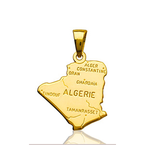 Pendentif 'Algérie plaqué or