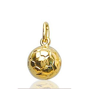 Sans - Pendentif ballon de foot plaqué or - petit modèle pas cher
