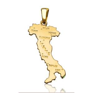 Sans - Pendentif italie plaqué or - grand modèle pas cher