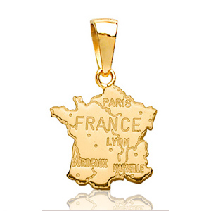 Image of Pendentif france plaqué or