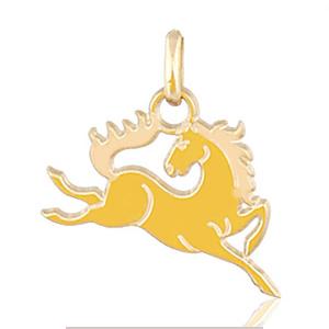 Image of Pendentif cheval saut plaqué or