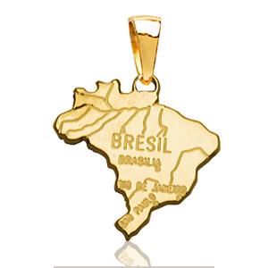 Pendentif Brésil plaqué or
