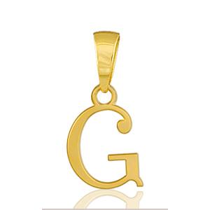 """Pendentif lettre """" G """" plaqué or - lettrine anglaise stylisée - petit modèle"""