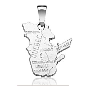 Image of Pendentif quebec en argent rhodié