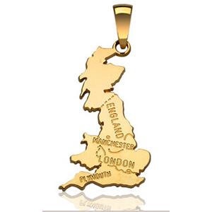 Pendentif Angleterre plaqué or