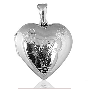Pendentif cassolette Coeur moderne en argent